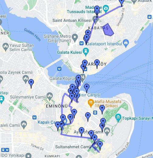 Istanbul - Google My Maps