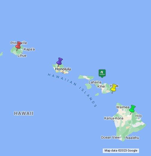 Hawaiian Islands Map - Map of hawaiian islands