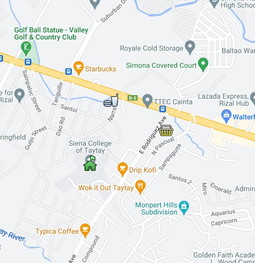 Siena College Of Taytay Locational Map Google My Maps