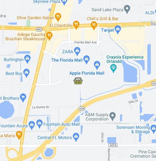 Map Of Florida Mall.Orlando Florida Mall Google My Maps
