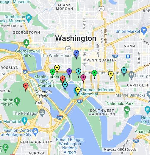 Washington, DC Monument Map - Google My Maps