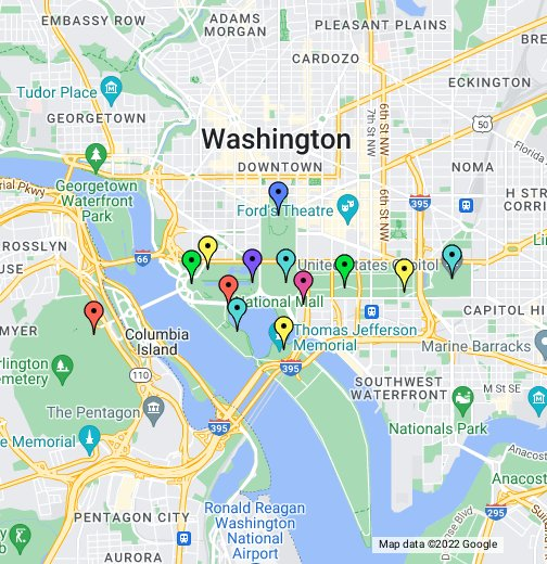 Map of dc landmarks gallery diagram writing sample and guide washington dc monument map sciox gallery sciox Gallery