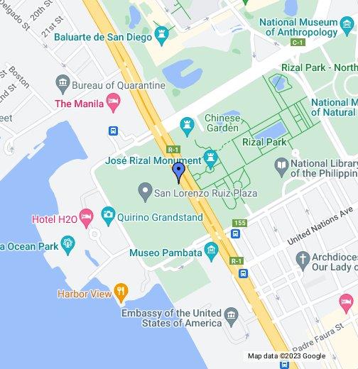 DIAMOND HOTEL MANILA - Roxas map