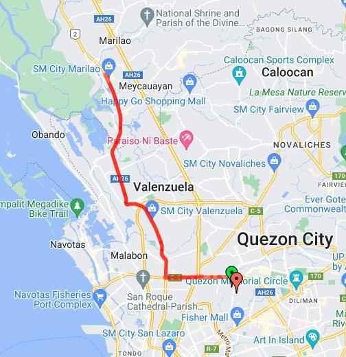Trip To SM Marilao - Marilao map