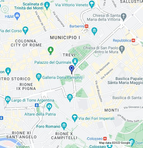 Piazza Di Spagna Cartina.Scuderie Del Quirinale Google My Maps