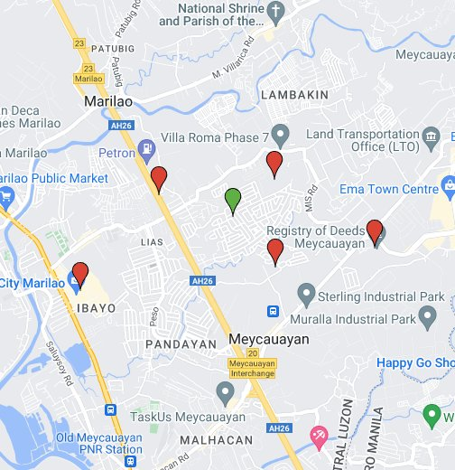 Metrogate Meycauayan II - Marilao map