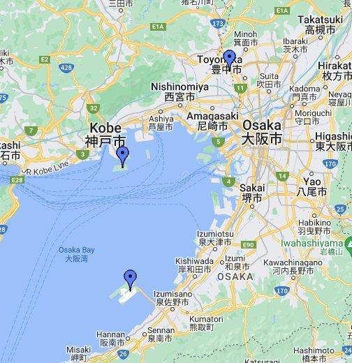 map of kansai airport Kansai Airport Osaka Japan Google My Maps map of kansai airport