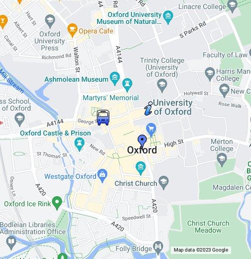 győr google térkép Map of Oxford   Google My Maps