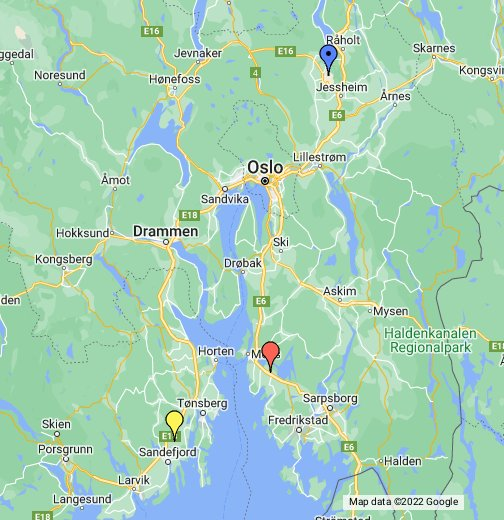 Oslos Airports - Norway map sandefjord