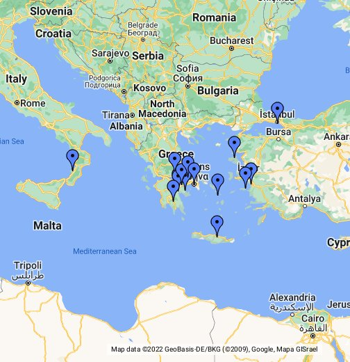 Grecia Antigua Google My Maps