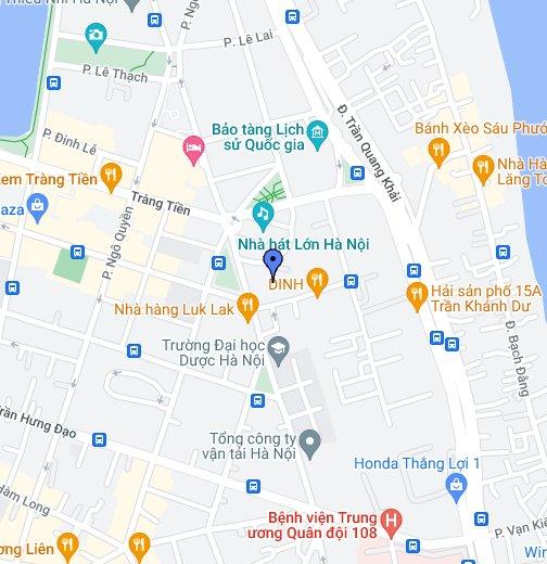 Map Ha Noi.Hilton Hanoi Opera Hotel Google My Maps