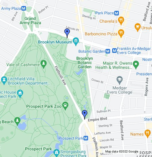 brooklyn botanic garden map Brooklyn Botanic Garden Google My Maps brooklyn botanic garden map