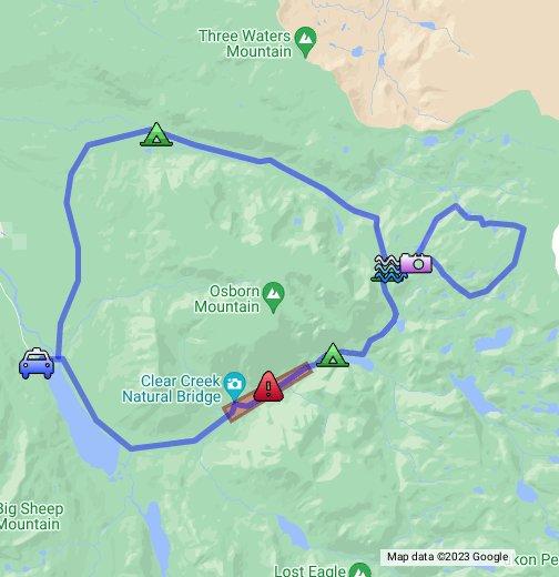 green river lake map Wind Rivers Green River Lakes Loop Google My Maps green river lake map