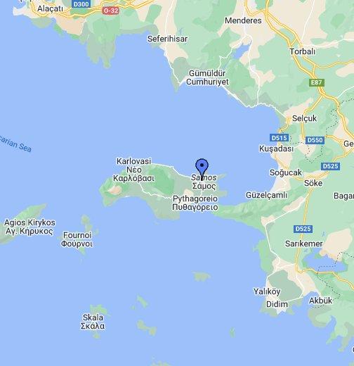 samos island greece map Samos Island Vathy Greece Google My Maps
