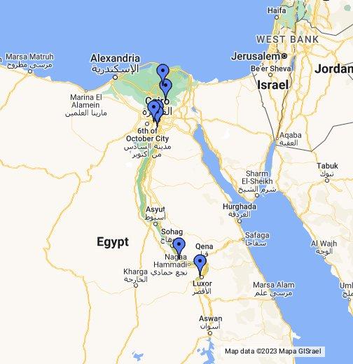 Egypt Ancient Egypt Landmarks - Map of egypt thebes