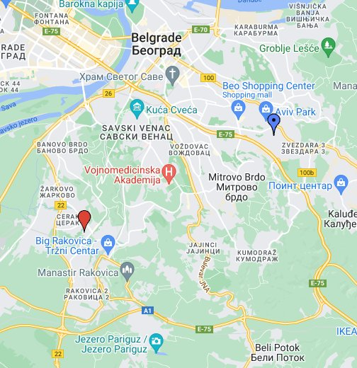 krusedolska ulica beograd mapa Ulice Beograd   Google My Maps krusedolska ulica beograd mapa