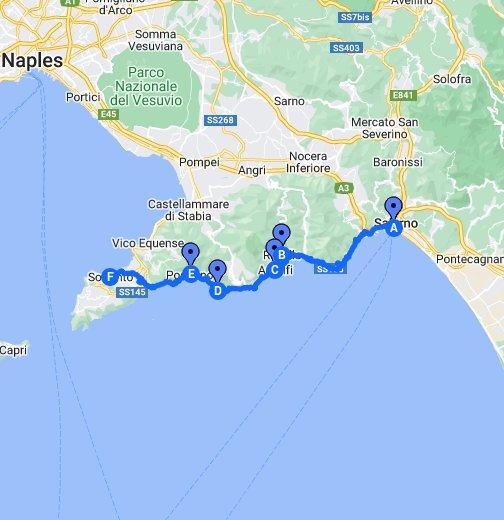 Amalfi Coast Road Trip Google My Maps