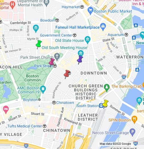 Map Of Downtown Downtown Crossing, Boston, Massachusetts   Google My Maps Map Of Downtown