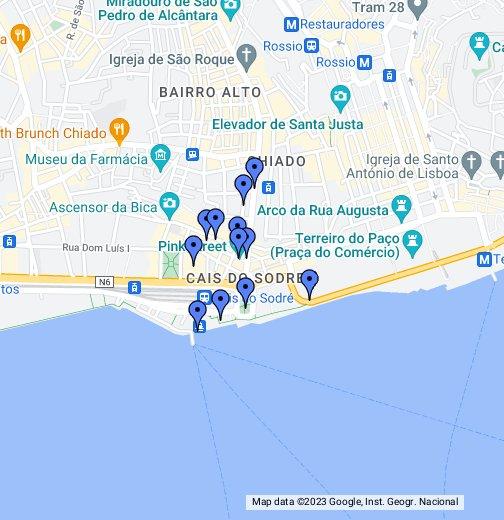 mapa cais do sodre Cais de Sodre, Lisbon   Google My Maps mapa cais do sodre