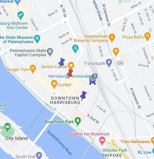 Harrisburg, PA - Google My Maps