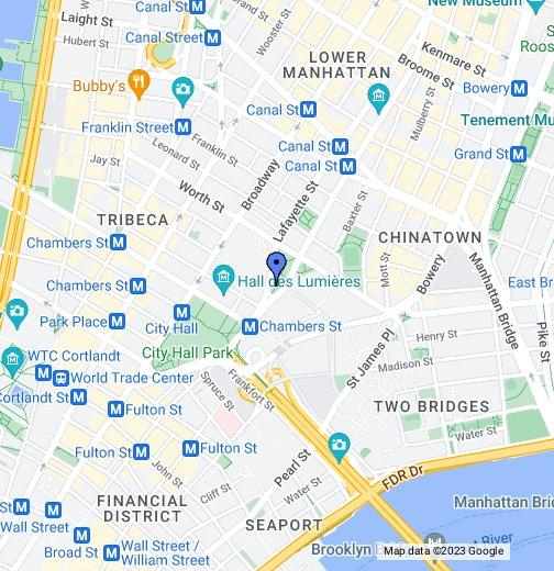 Downtown Manhattan - New york city map google