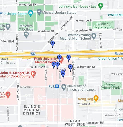 rush university campus map Rush University Medical Center Google My Maps