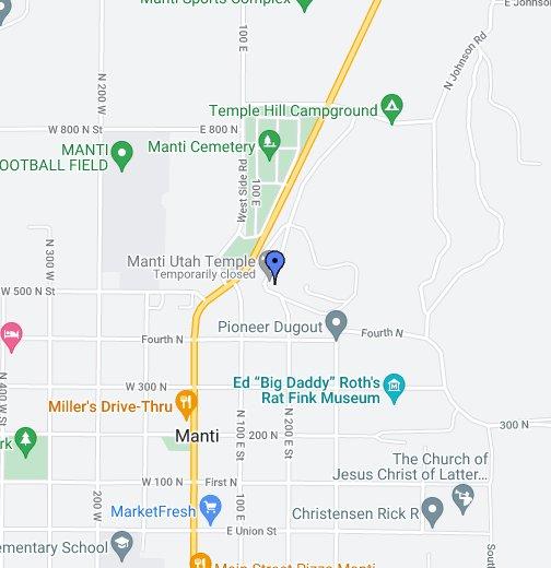 Manti Temple Google My Maps