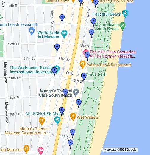 art deco walking tour google my maps