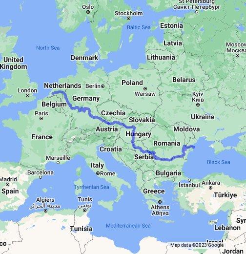 Rhine Main Danube Canal Google My Maps