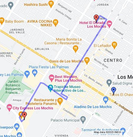 Mapa A Mi casa