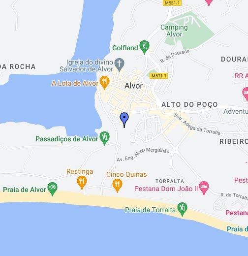 Pestana Alvor Praia - Praia map