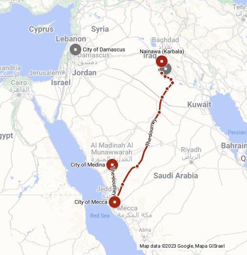 Hussains Journey Interactive Map - Bahrain interactive map
