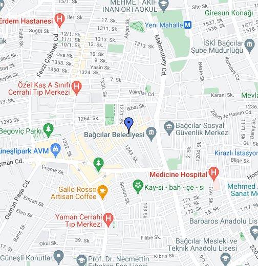 Istanbul Avrupa Yakası Harita Google My Maps