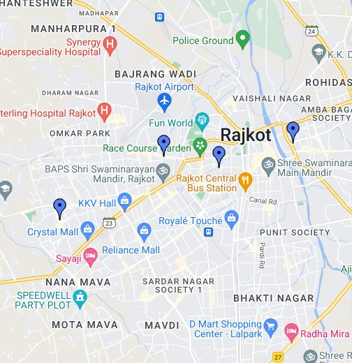 Genext Languages Rajkot Locations - Morvi map