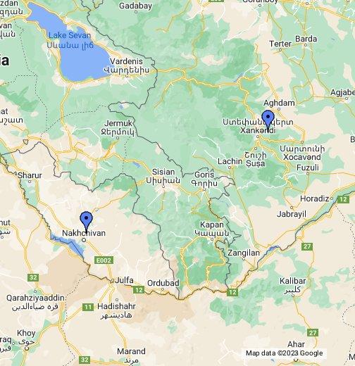 Azerbaijan Armenia Border Google My Maps