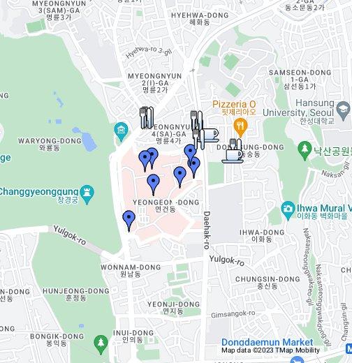 Seoul National University, Yongon Campus - Google My Maps on google maps seoul korea, tripadvisor seoul, google map korea english, google map south korea,