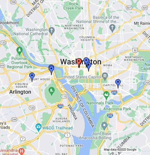 georgetown dc map D.C. Food Truck Locations 7/9   Google My Maps