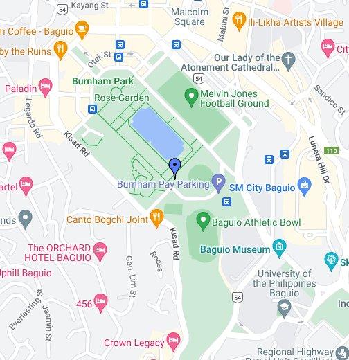 Burnham Park - Baguio map