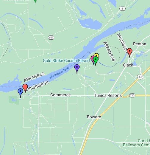 Tunica, Mississippi Casino Map   Google My Maps