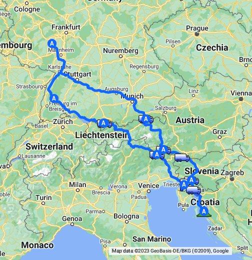 deutschland sterreich slowenien kroatien italien 2011 google my maps. Black Bedroom Furniture Sets. Home Design Ideas