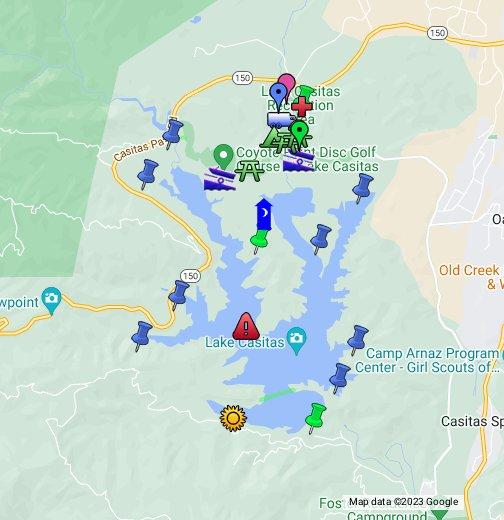 lake casitas campground map Lake Casitas Google My Maps lake casitas campground map