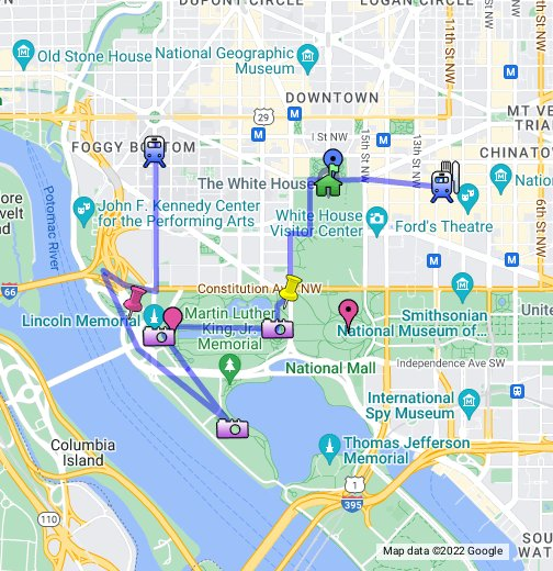 Washington DC Walking Map - Google My Maps
