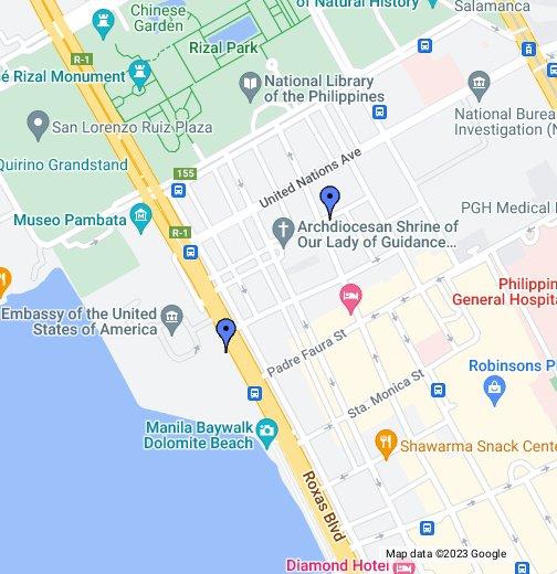 City Garden & US Embassy - Google My Maps
