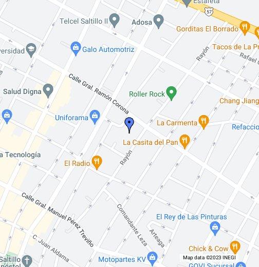 Saltillo Coahuila Google My Maps