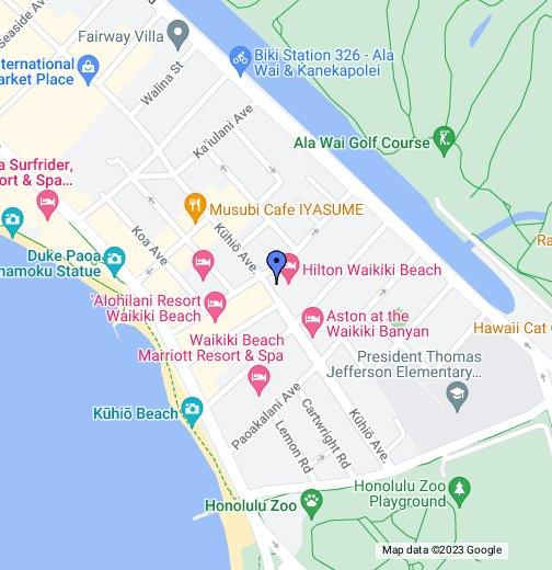 Hilton Waikiki Beach - Google My Maps on