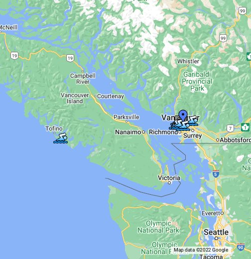 West Of Canada Map.West Coast Canada Beaches Map Google My Maps