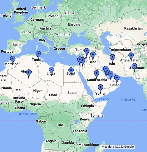 Map of the middle east google my maps gumiabroncs Gallery