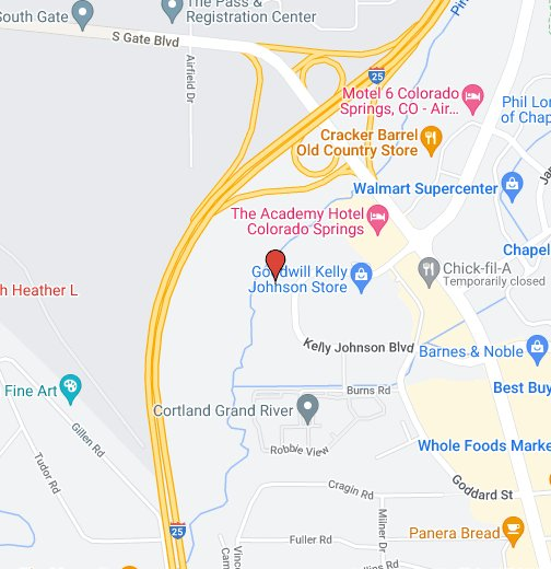 Downtown Colorado Springs - Google My Maps