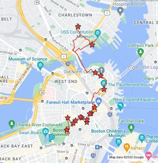Freedom Trail Boston Map Freedom Trail Map   Google My Maps