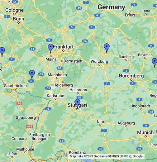 RamsteinMiesenbach - Germany map ramstein